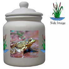 Green Frog Ceramic Color Cookie Jar