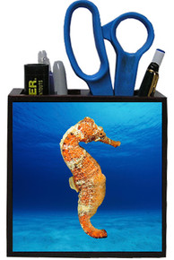 Seahorse Wooden Pencil Holder