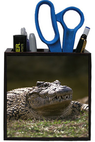 Alligator Wooden Pencil Holder