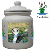 Cobra Snake Ceramic Color Cookie Jar