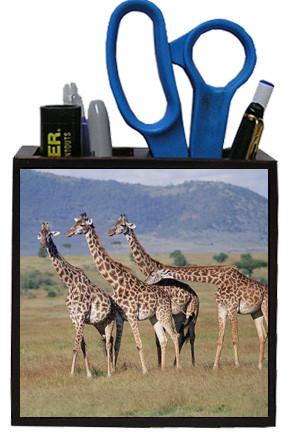 Giraffe Wooden Pencil Holder