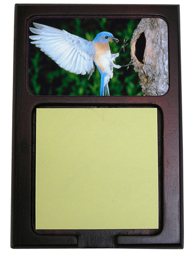 Bluebird Wooden Sticky Note Holder