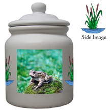Toad Ceramic Color Cookie Jar