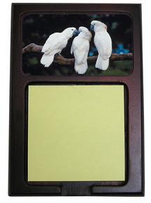 Cockatoo Wooden Sticky Note Holder