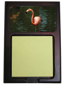 Flamingo Wooden Sticky Note Holder
