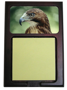 Hawk Wooden Sticky Note Holder