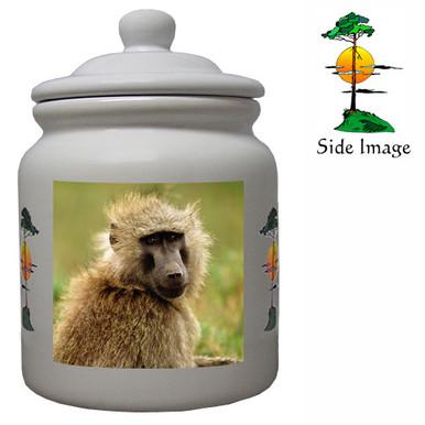 Baboon Ceramic Color Cookie Jar
