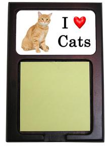 Tabby Cat Wood Sticky Note Holder