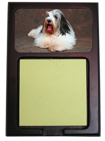 Bearded Collie Wooden Sticky Note Holder