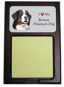 Bernese Mountain Dog Wooden Sticky Note Holder