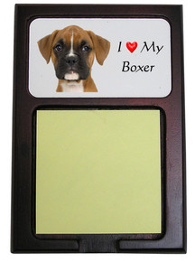 Boxer Wooden Sticky Note Holder