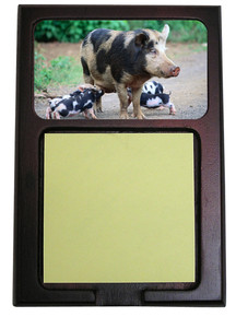 Pig Wooden Sticky Note Holder