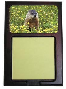 Groundhog Wooden Sticky Note Holder