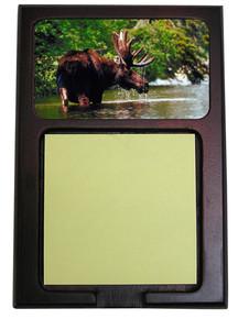 Moose Wooden Sticky Note Holder