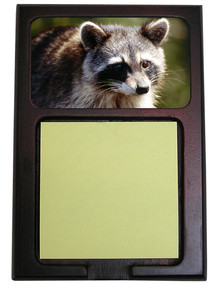 Raccoon Wooden Sticky Note Holder