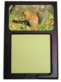 Squirrel Wooden Sticky Note Holder