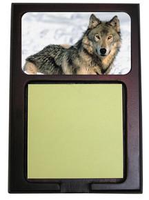 Wolf Wooden Sticky Note Holder