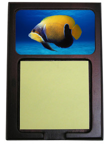 Blue Girdled Angelfish Wooden Sticky Note Holder