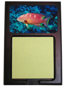Grouper Wooden Sticky Note Holder