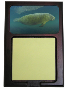 Manatee Wooden Sticky Note Holder