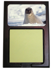 Seal Wooden Sticky Note Holder