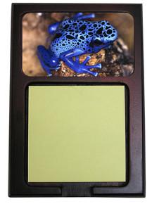 Blue Frog Wooden Sticky Note Holder