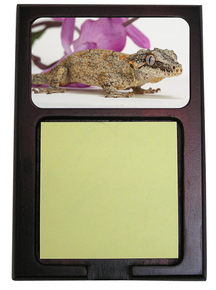 Gecko Wooden Sticky Note Holder