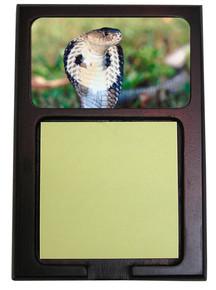 Cobra Snake Wooden Sticky Note Holder