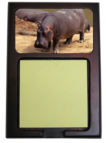 Hippo Wooden Sticky Note Holder