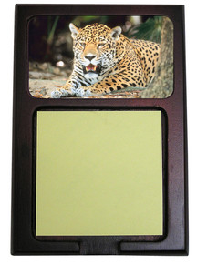 Jaguar Wooden Sticky Note Holder