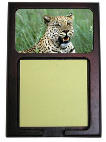 Leopard Wooden Sticky Note Holder