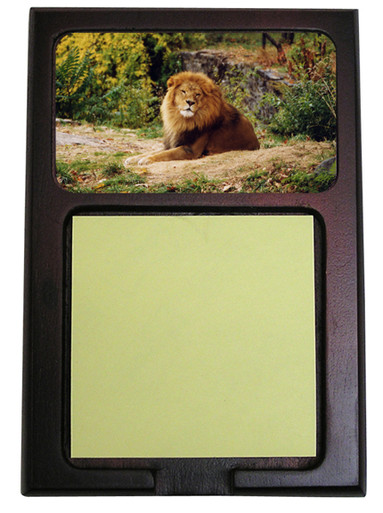 Lion Wooden Sticky Note Holder