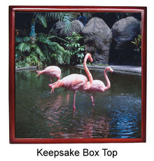 Flamingo Keepsake Box