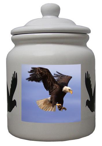 Eagle Ceramic Color Cookie Jar