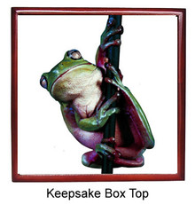 Tree Frog Keepsake Box