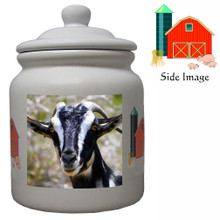 Goat Ceramic Color Cookie Jar