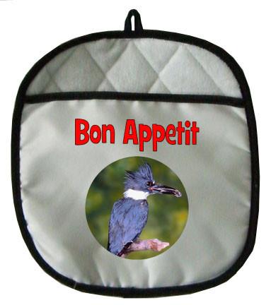Belted Kingfisher Pot Holder