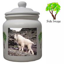 Mountain Goat Ceramic Color Cookie Jar