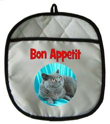 British Shorthair Cat Pot Holder