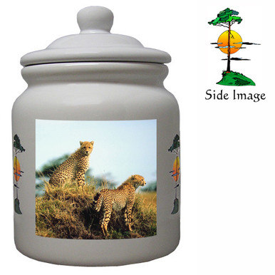 Cheetah Ceramic Color Cookie Jar