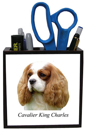 Cavalier King Charles Wood Pencil Holder