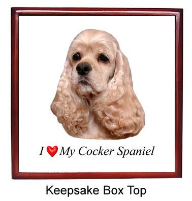 Cocker Spaniel Keepsake Box