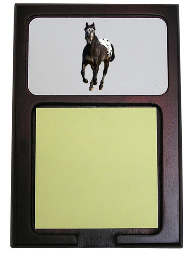 Appaloosa Wooden Sticky Note Holder