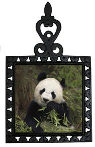 Panda Bear Iron Trivet