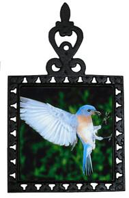 Bluebird Iron Trivet