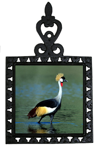 Crowned Crane Iron Trivet