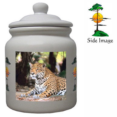Jaguar Ceramic Color Cookie Jar