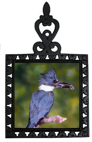 Belted Kingfisher Iron Trivet