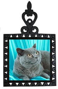 British Shorthair Cat Iron Trivet
