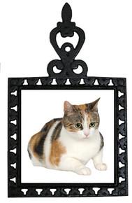 Calico Cat Iron Trivet